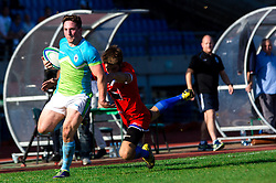 Frankie Skofic of Slovenia during rugby match between National team of Slovenia (green) and Serbia (Red) at EUROPEAN NATIONS CUP 2012-2014 of C group 2nd division, on October 18, 2014, at ZAK Stadium, Ljubljana, Slovenia. (Photo by Matic Klansek Velej / Sportida.com)