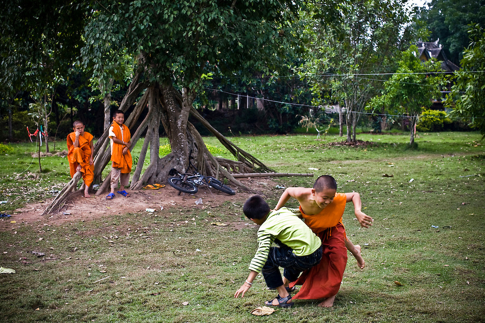 Local young monks at Dai Minority Park.
