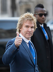 © Licensed to London News Pictures. 05/12/2016. London, UK. Businessman Charlie Mullins gives a thumbs up as he arrives at the Supreme Court  in Westminster, London for first day of a Supreme Court hearing to appeal against a November 3 High Court ruling that Article 50 cannot be triggered without a vote in Parliament. Photo credit: Peter Macdiarmid/LNP