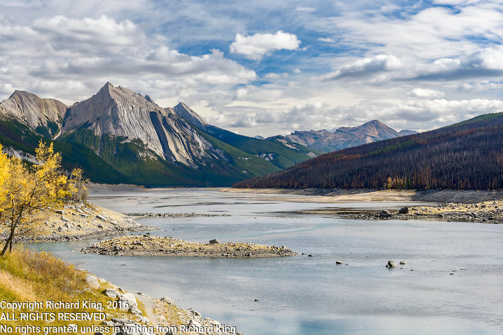 Landscape photographs of Medicine Lake, AB, Canada