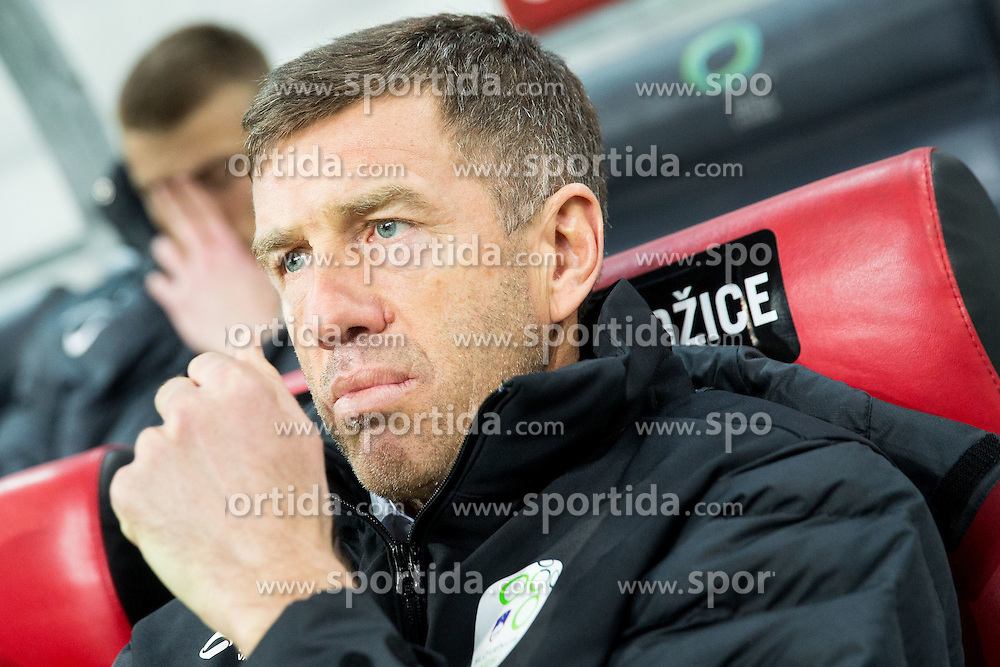 Srecko Katanec, head coach of Slovenia prior to the football match between NationalTeams of Slovenia and San Marino in Round 5 of EURO 2016 Qualifications, on March 27, 2015 in SRC Stozice, Ljubljana, Slovenia. Photo by Vid Ponikvar / Sportida