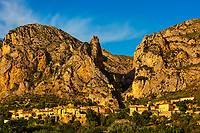 beautiful village of moustier in the verdon gorge canion  var france