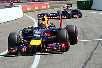 Sebastian Vettel (Red Bull Racing Renault)<br /> Formel 1, Grosser Preis Santander von Deutschland 2014, Hockenheimring<br /> Norway only<br /> F1