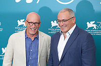 Venice, Italy, 31st August 2019, Director Alex Gibney and Mikhail Khodorkovsky at the photocall for the film Citizen K at the 76th Venice Film Festival, Sala Grande. Credit: Doreen Kennedy/Alamy Live News