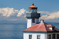 Lime Kiln Lighthouse, Lime Kiln Point State Park, San Juan Island, Washington