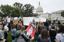 October 6, 2018 - Washington, District of Columbia, U.S. - After Senator Collins announced her support, hundreds gather in protest at the Hart Senate Building to protest the expected nomination of Judge Kavanaugh to the U.S. Supreme Court. (Credit Image: © Bastiaan Slabbers/NurPhoto/ZUMA Press)
