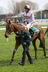 LIVERPOOL, ENGLAND - Friday, April 9, 2010: General Miller ridden by Barry Geraghty after winning the opening race during the second day of the Grand National Festival at Aintree Racecourse. (Pic by David Rawcliffe/Propaganda)