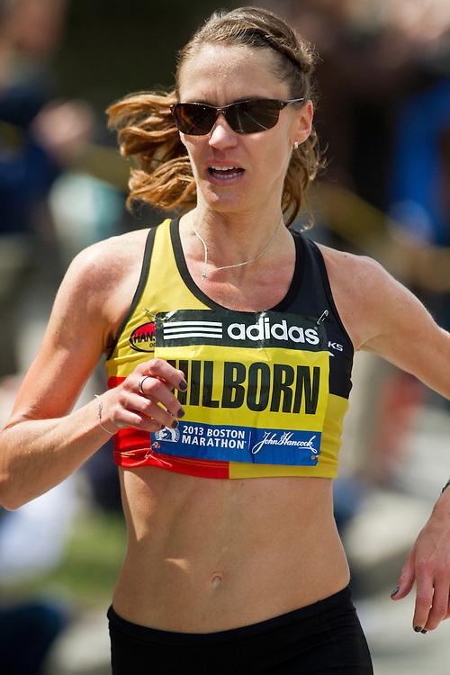 2013 Boston Marathon: Ariana Hilborn, 32, MI, races