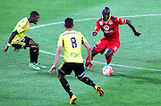 Adelaide United's Bruce Djite on the ball during the Round 22 A-League football match - Wellington Phoenix V Adelaide United at Westpac Stadium, Wellington. Saturday 5th March 2016. Copyright Photo.: Grant Down / www.photosport.nz