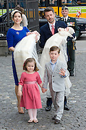 14.04.11. Copenhagen, Denmark.Princess Mary, Prince Frederik, Prins Christians, Princess Isabella, Prince Vincent and Princes Josefine arrive to the Holmens Church to christening ceremony.Photo: Ricardo Ramirez