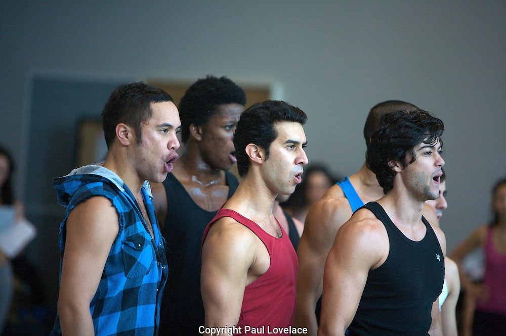 West Side Story Cast at rehearsals, ABC Studios, Sydney, Australia. An instant sale option is available where a price can be agreed on image useage size. Please contact me if this option is preferred. An instant sale option is available where a price can be agreed  on image useage. Please contact me if this option is preferred.