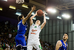 Gregor Hrovat #15 of KK Union Olimpija during basketball match between KK Union Olimpija and KK Rogaska in 4th Final game of Liga Nova KBM za prvaka 2016/17, on May 24, 2017 in Hala Tivoli, Ljubljana, Slovenia. Photo by Vid Ponikvar / Sportida
