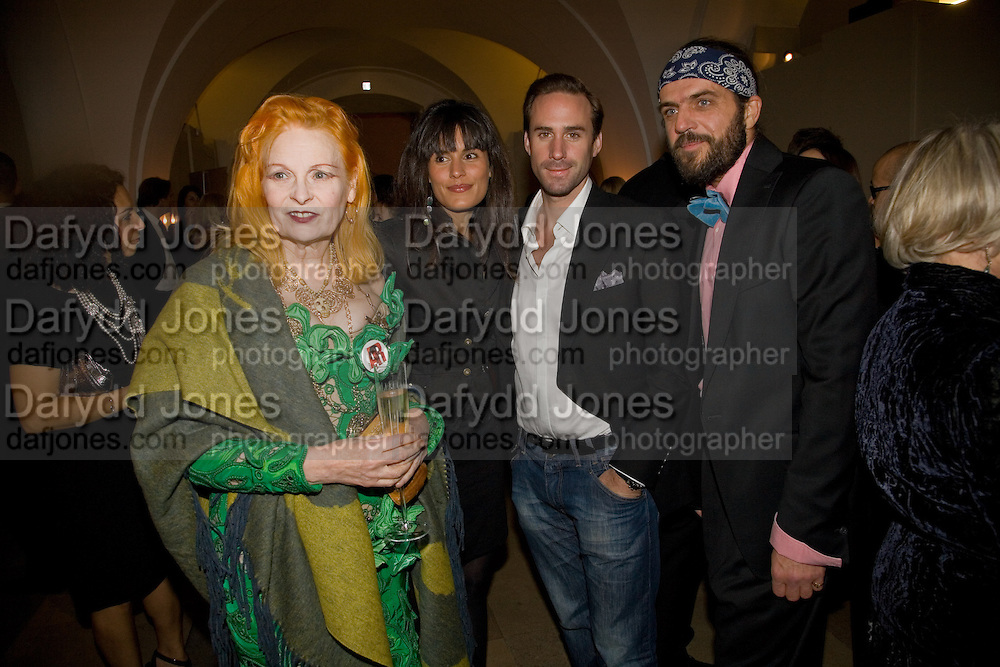 Vivienne Westwood; Maria Dolores Pieguez; Joseph Fiennes; Andrea Kronthaler. Chaos Point: Vivienne Westwood Gold Label Collection performance art catwalk show and auction in aid of the NSPCC. Banqueting House. London. 18 November 2008<br /> *** Local Caption *** -DO NOT ARCHIVE -Copyright Photograph by Dafydd Jones. 248 Clapham Rd. London SW9 0PZ. Tel 0207 820 0771. www.dafjones.com