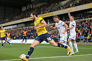 Oxford United forward Danny Hylton (10) cuts inside during the Sky Bet League 2 match between Oxford United and AFC Wimbledon at the Kassam Stadium, Oxford, England on 10 October 2015.