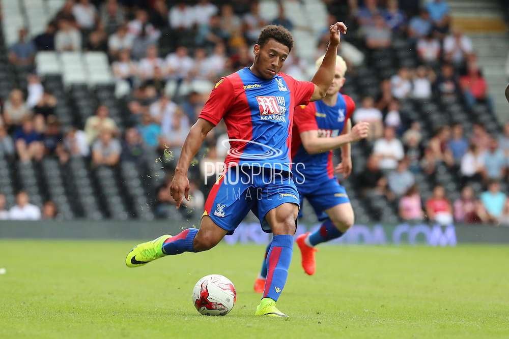 Crystal Palace player, Keshi Anderson passing the ball during the Pre-Season Friendly match between Fulham and Crystal Palace at Craven Cottage, London, England on 30 July 2016. Photo by Matthew Redman.