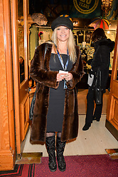 JO WOOD at the opening night of Amaluna by Cirque Du Soleil at The Royal Albert Hall, London on 19th January 2016.