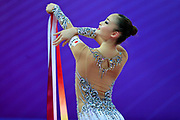 Minagawa Kaho during Qualification of ribbon at World Cup Pesaro 2018.<br />