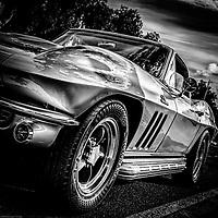 1960's Corvette Stingray in black and white