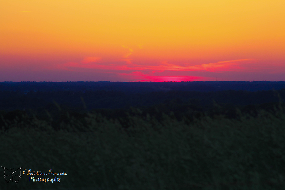 Ohio Sunset, south eastern ohio sunset image for sale, pink, orange, purple