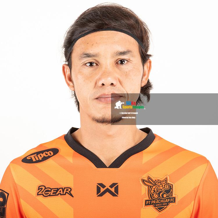 THAILAND - JUNE 24: Adul Muensaman #25 of PT Prachuap FC on June 24, 2019.<br /> .<br /> .<br /> .<br /> (Photo by: Naratip Golf Srisupab/SEALs Sports Images/MB Media Solutions)