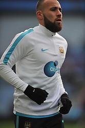 NICOLAS OTAMENDI MANCHESTER CITY, Aston Villa v Manchester City, The Emirates FA Cup 4th Round Villa Park Saturday 30th January 2016
