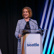 Visit Seattle Annual Meeting 2018. Seattle Mayor Jenny Durkan. Photo by Alabastro Photography.