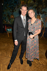 RICHARD HAINES and his daughter OLIVIA HAINES at an Evening of Riviera Inspired Glamour in aid of CLIC Sargentheld at Sketch, 9 Conduit Street, London on 25th January 2016.