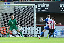 Billy Waters of Cheltenham Town scores - Mandatory by-line: Dougie Allward/JMP - 25/07/2015 - SPORT - FOOTBALL - Cheltenham Town,England - Whaddon Road - Cheltenham Town v Bristol Rovers - Pre-Season Friendly