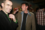( DIRECTOR)RUFUS NORRIS, BOOK)  DBC PIERRE ( WROTE BOOK)  Young Vic fundraising Gala after performance of Vernon God Little. The cut. London. 10 May 2007.  -DO NOT ARCHIVE-© Copyright Photograph by Dafydd Jones. 248 Clapham Rd. London SW9 0PZ. Tel 0207 820 0771. www.dafjones.com.