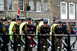 ©under license to London News Pictures. 04/11/2010 -  The RAF team start The March for Honour from the War Memorial in Stamford..Fellow soldiers pay their tribute to killed colleagues.