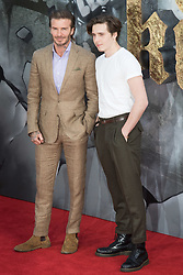 London, May 10th 2017. Brooklyn Beckham and David Beckham attend the European premiere of King Arthur - Legend of the Sword at the Cineworld Empire in Leicester Square.