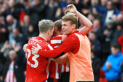 March 2, 2019 - Sunderland, England, United Kingdom - Sunderland's Lee Cattermole celebrates scoring his side's first goal during the Sky Bet League 1 match between Sunderland and Plymouth Argyle at the Stadium Of Light, Sunderland on Saturday 2nd March 2019. (Credit Image: © Mi News/NurPhoto via ZUMA Press)