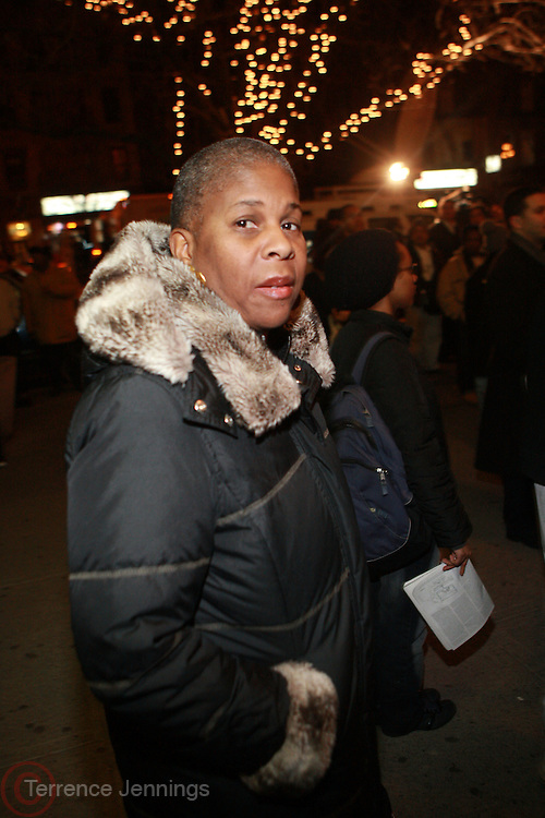Dr. Lunara Fulani at the Sylvia's Restuarant, where a gathering of Influential African-American Politicians called by Rev. Al Sharpton,  decide resolution of the fate of Governor David Patterson on March 4, 2010 in Harlem, New York City