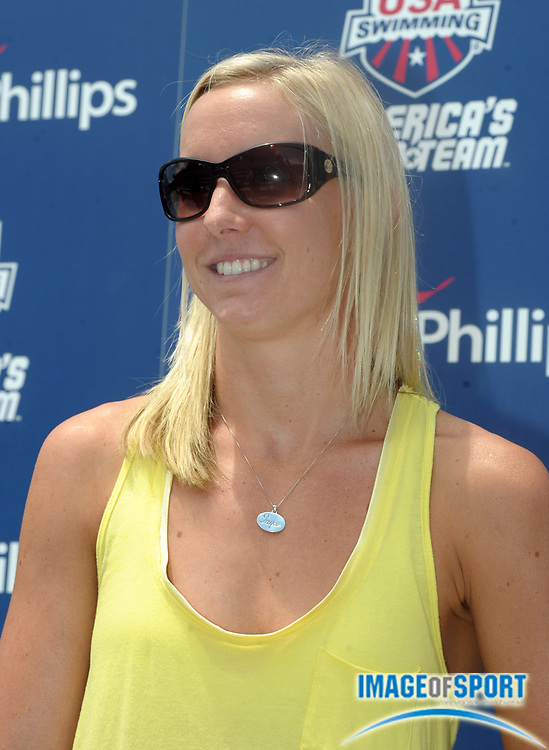 Aug 2, 2010; Irvine, CA, USA; Jessica Hardy at the 2010 USA Swimming National Championships media day at William Woollett Jr. Aquatics Center. Mandatory Credit: Kirby Lee/Image of Sport-US PRESSWIRE