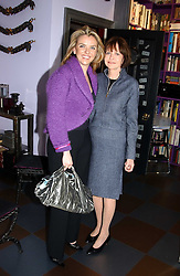 Left to right, PAULA WHITE-CORREAL and MARGARIETTE LITTMAN at a launch preview sale of Nathalie Hambro's new line of fashion accessories 'Full of Chic' held at her home 63 Warwick Square, London SW1 on 5th May 2005.<br /><br />NON EXCLUSIVE - WORLD RIGHTS