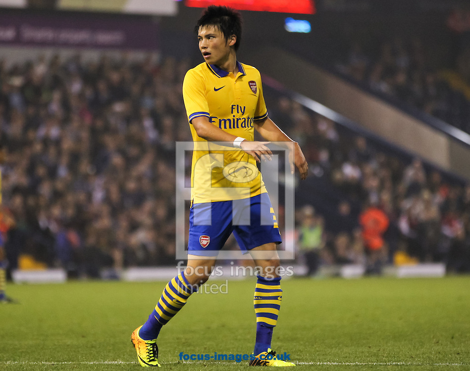 Picture by Tom Smith/Focus Images Ltd 07545141164<br /> 25/09/2013<br /> Ryo Miyaichi of Arsenal during the Capital One Cup match at The Hawthorns, West Bromwich.