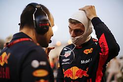 April 8, 2018 - Sakhir, Kingdom of Bahrain - MAX VERSTAPPEN of Aston Martin Red Bull Racing prior to the 2018 FIA Formula 1 Bahrain Grand Prix at Bahrain International Circuit in Sakhir, Kingdom of Bahrain. (Credit Image: © James Gasperotti via ZUMA Wire)