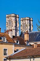 France, Saône-et-Loire (71), Chalon-sur-Saône, la cathédrale Saint-Vincent, bâtie entre 1090 et 1520 // France, Saône-et-Loire (71), Chalon-sur-Saône, Saint-Vincent cathedral, build between 1090 and 1520