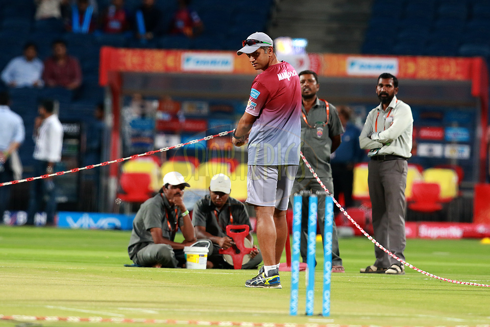 Rahul Dravid coach of DD before  match 9 of the Vivo 2017 Indian Premier League between the Rising Pune Supergiants and the Delhi Daredevils held at the MCA Pune International Cricket Stadium in Pune, India on the 11th April 2017<br /> <br /> Photo by Rahul Gulati- IPL - Sportzpics