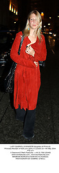 LADY GABRIELLA WINDSOR daughter of Prince & Princess Michael of Kent, at a party in London on 11th May 2004.PTZ 217