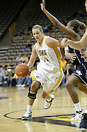 28 NOVEMBER 2007: Iowa forward Johanna Solverson (34) tries to get around the defense in the first half of Georgia Tech's 76-57 win over Iowa in the Big Ten/ACC Challenge at Carver-Hawkeye Arena in Iowa City, Iowa on November 28, 2007.