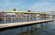 © Licensed to London News Pictures. 02/07/2014. Henley, UK People enjoy the sunny weather at Henley Regatta today 2nd July 2014. The Regatta is celebrating the 175th Anniversary of the first regatta in 1839. Photo credit : Stephen Simpson/LNP