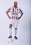 05-07-2009: Voetbal:Studioportretten Willem II<br /> Ibrahim Kargbo<br /> LET OP! Fotomontage<br /> Foto: Geert van Erven