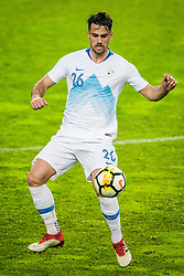 Luka Krajnc of Slovenia during friendly football match between National teams of Slovenia and Belarus, on March 27, 2018 in SRC Stozice, Ljubljana, Slovenia. Photo by Vid Ponikvar / Sportida