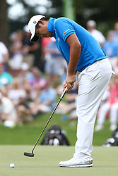 August 12, 2017 - Charlotte, North Carolina, United States - Byeong Hun An putts the second green during the third round of the 99th PGA Championship at Quail Hollow Club. (Credit Image: © Debby Wong via ZUMA Wire)