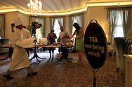 The four PM Tea  at the Mount Nelson Hotel in Cape Twon South Africa.  photograph by Dennis Brack...