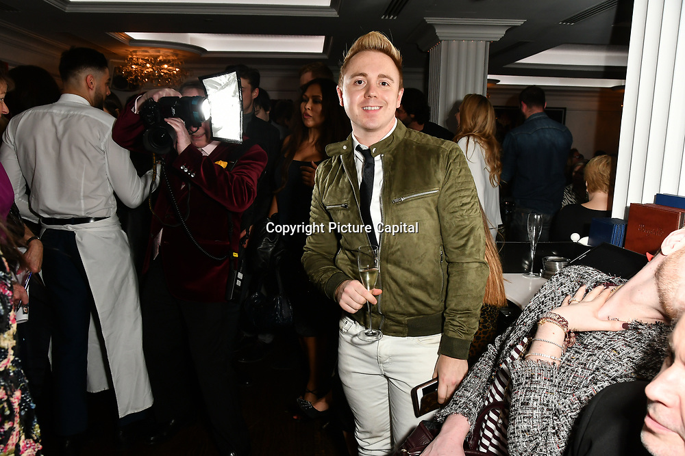 John Galea attend Nina Naustdal catwalk show SS19/20 collection by The London School of Beauty & Make-up at Bagatelle on 26 Feb 2019, London, UK.