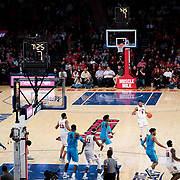 January 9, 2018, New York, NY : The St. John's and Georgetown men's basketball teams face off at Madison Square Garden on Tuesday night. In something of a rematch of their 1985 contest, Basketball greats Patrick Ewing and Chris Mullin returned to Madison Square Garden on Tuesday night to face off as coaches with their respective Georgetown and St. John's teams.  CREDIT: Karsten Moran for The New York Times