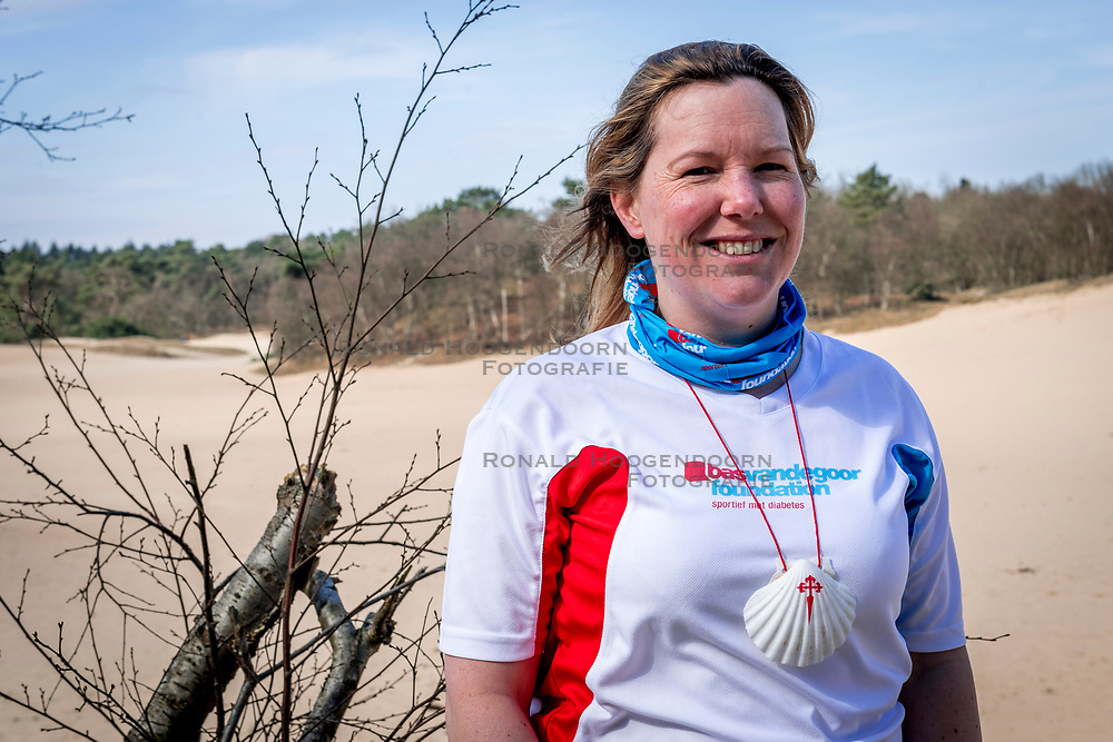 18-03-2018 NED: We hike to change diabetes, Soest<br /> Training voor de Camino 2018 op de Soesterduinen / Wanda