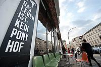 "04 JAN 2012, BERLIN/GERMANY:<br /> Slogan ""Das Leben ist kein Ponyhof"", Cafe Oberholz, Rosenthaler Platz<br /> IMAGE: 20120104-01-035"